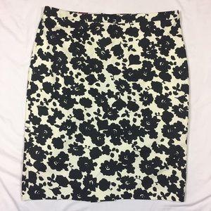 LOFT Floral Pencil Skirt